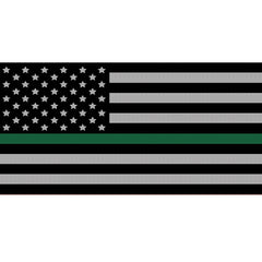 Black & White Thin Green Line