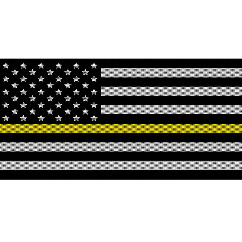 Black and White Thin Yellow Line