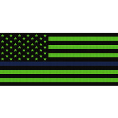 Black & Green Thin Blue Line