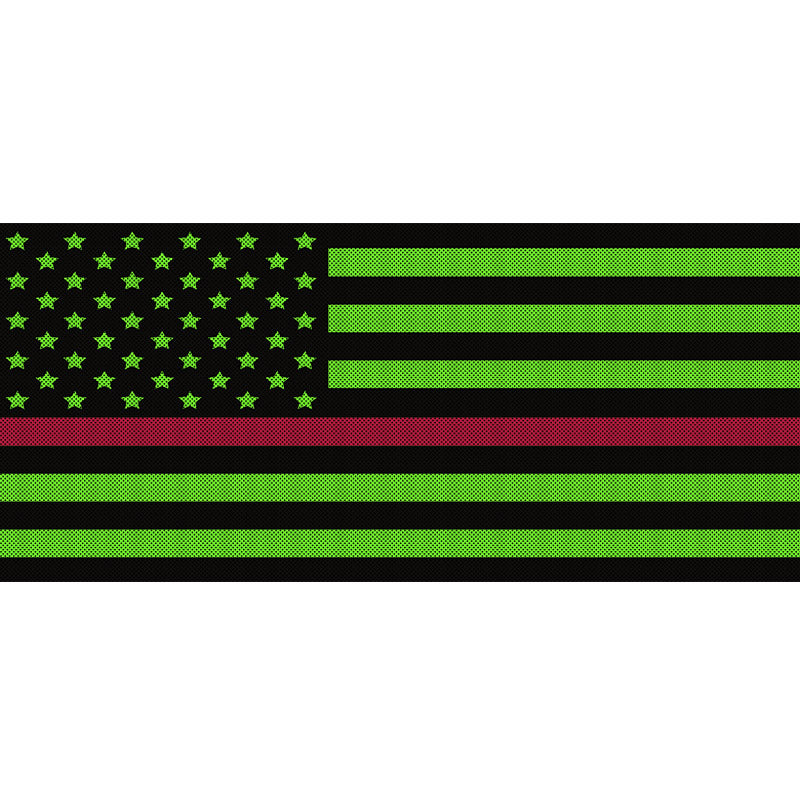 Black & Green Thin Red Line