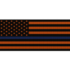 Black & Orange Thin Blue Line
