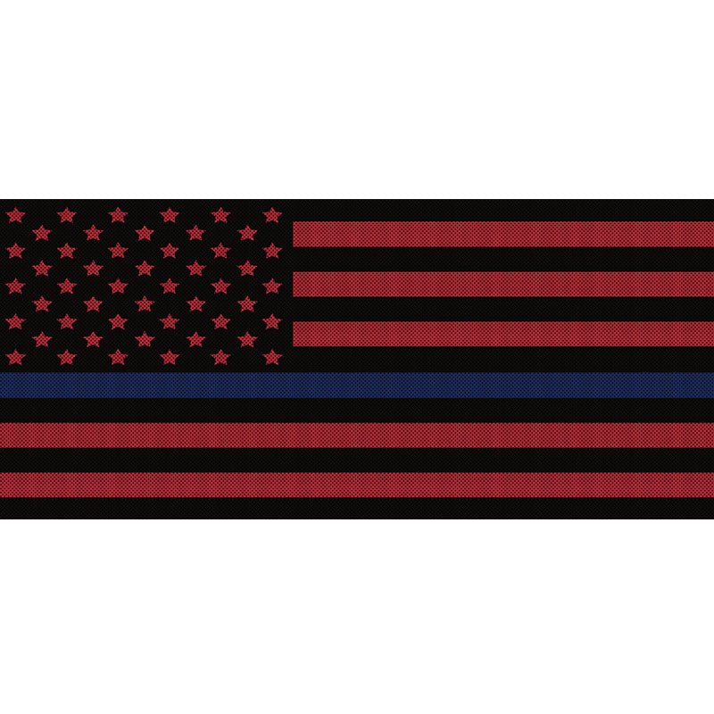 Black & Red Thin Blue Line