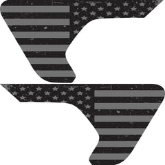 Distressed Blackout Flag 2pc Fender Vent Decals For Jeep Wrangler JL JLU JT