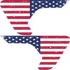 Distressed Old Glory 2pc Fender Vent Decals For Jeep Wrangler JL JLU JT