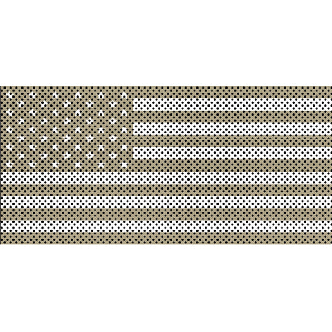 Desert Tan Old Glory White Stars & Stripes