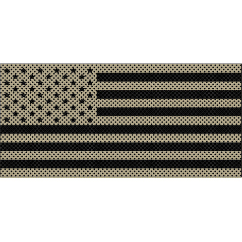 Desert Tan Old Glory Black Stars & Stripes