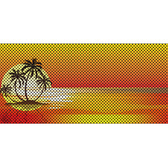 Endless Summer - Orange - Palm Tree