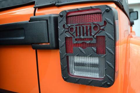 Jeep® Tweaks BLACK JK Tail Light Guards for 07-18 Jeep® Wrangler & Wrangler Unlimited JK