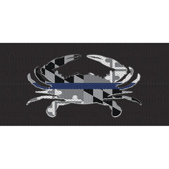 Maryland Crab BlackOut Thin Blue Line