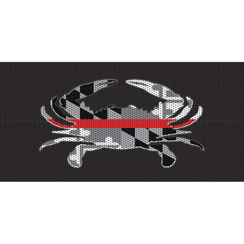 Maryland Crab BlackOut Thin Red Line