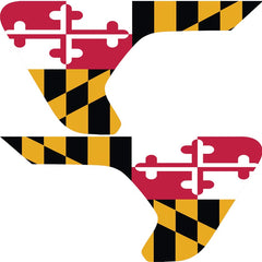 Maryland State Flag 2pc Vinyl Fender Vent Decal