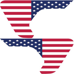 Old Glory 2pc Vinyl Fender Vent Decal