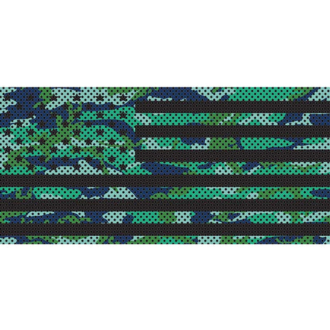 Blue Green Camo Stars & Stripes
