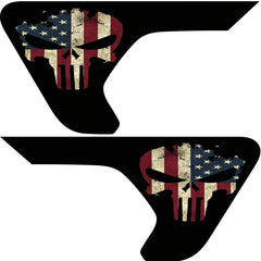 Punisher Old Glory Inserts & Flat Black Vent Decals Bundle