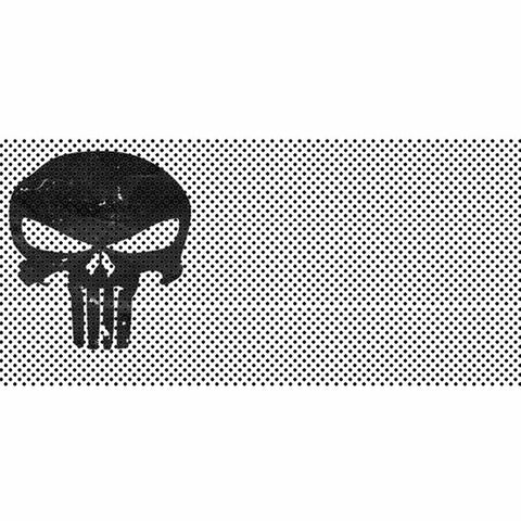Punisher White Black Skull