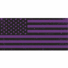 Distressed Purple Flag Inserts & Vent Decals Bundle