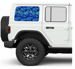 Mermaid Scales JKU/JLU Side Windows Printed Vinyl