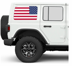 Old Glory JKU/JLU Side Windows Printed Vinyl