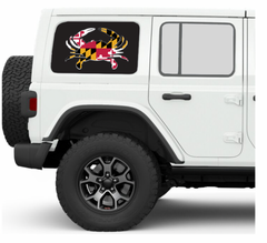 Maryland Crab JKU/JLU Side Windows Printed Vinyl