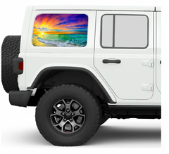 Sunset JKU/JLU Side Windows Printed Vinyl