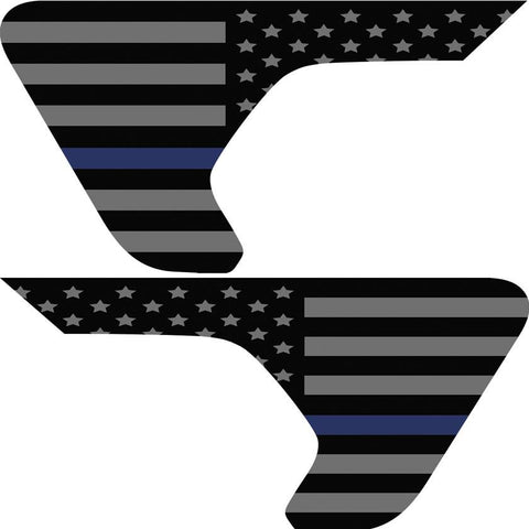Thin Blue Line American Flag Inserts & Vent Decals Bundle