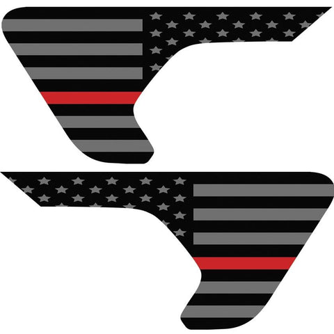 Thin Red Line American Flag Inserts & Vent Decals Bundle