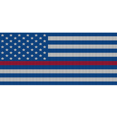 White & Blue Thin Red Line