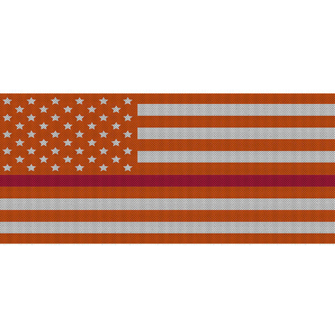 White & Orange Thin Red Line