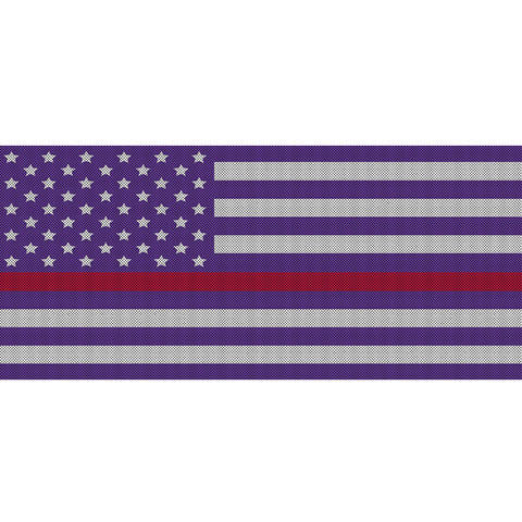 White & Purple Thin Red Line