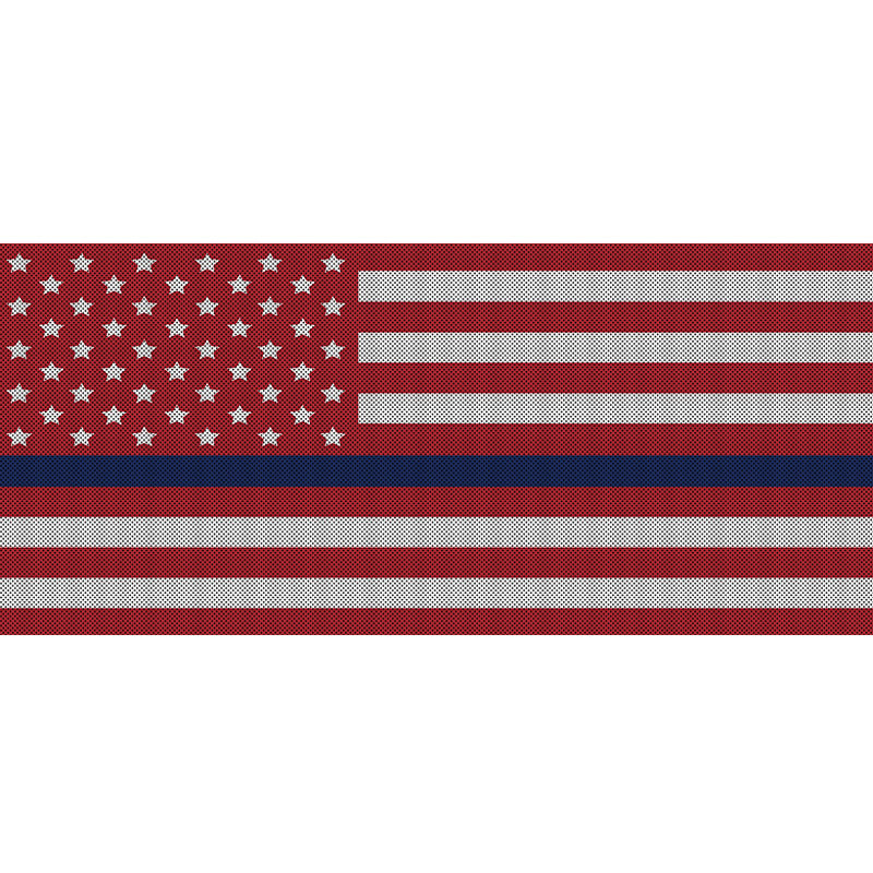 White & Red Thin Blue Line