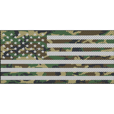 Woodland Camo Stars & Stripes