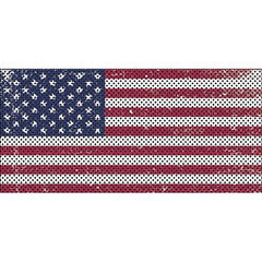 Distressed Old Glory Flag Inserts & Vent Decals Bundle