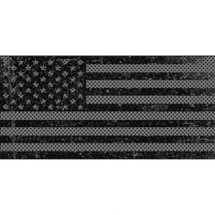 Distressed Blackout Flag Inserts & Vent Decals Bundle