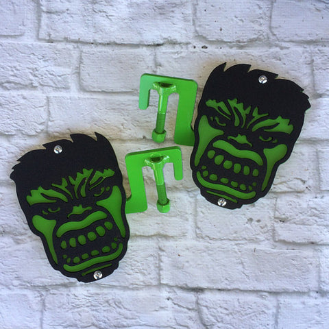 Two color Green Face foot pegs