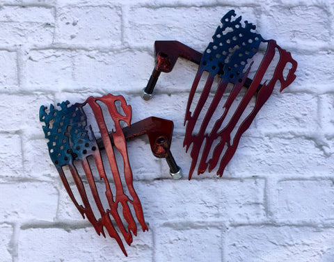 Patriotic American Flag Custom Jeep Foot Pegs JK