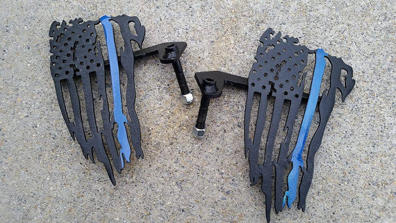 Thin Blue Line Flag Foot Pegs