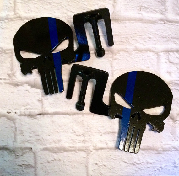 Punisher- Thin Blue/Red Line foot pegs JL/JK/CJ/TJ/YJ