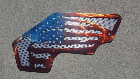 Full color American Flag JK Inner Fenders- Front