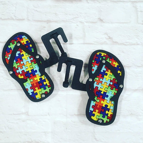 Autism United Flip Flop design foot pegs