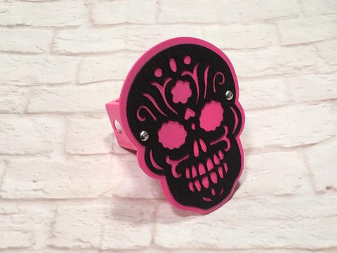 2layer Sugar Skull hitch cover