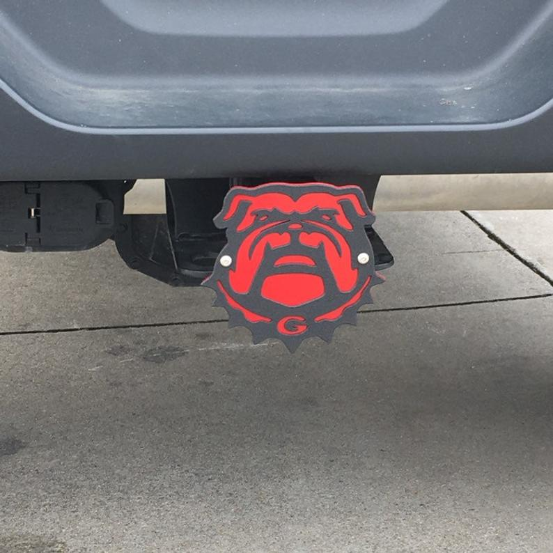 Bulldog head two-layer hitch cover