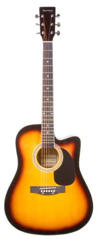 "41"" Huntington Tobaccoburst Acoustic Cutaway Guitar"