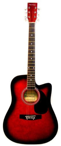 "41"" Acoustic Cutaway Guitar in Red"