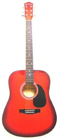 41 Inch Red Sunburst Acoustic Guitar Without Accessories