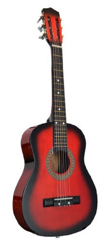 "32"" Inch 1/2 Half Size RED Kids Acoustic Toy Guitar & DirectlyCheap(TM) Translucent Blue Medium Guitar Pick"