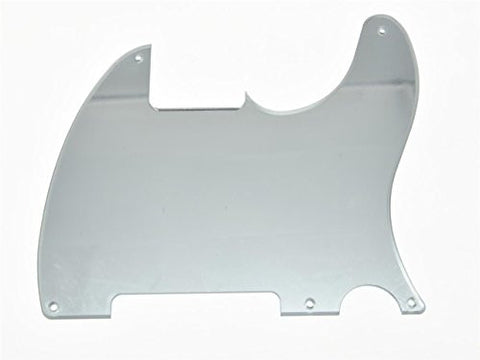 KAISH Silver Mirror 5 Hole Tele Blank Pickguard Scratch Plate No Pickup Hole for Fender Esquire