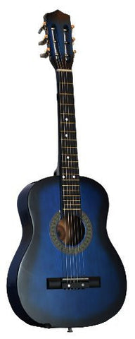 "32"" Inch 1/2 Half Size Blue Kids Acoustic Toy Guitar & DirectlyCheap(TM) Translucent Blue Medium Guitar Pick"
