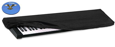 HQRP Elastic Dust Cover w/ Bag for Korg SP-280 / SP280 / SP-280BK / SP280BK / SP-280WH / SP280WH / SV-1 / SV1 / SV-188BK / SV188BK Electronic Keyboard Digital Piano + HQRP Coaster