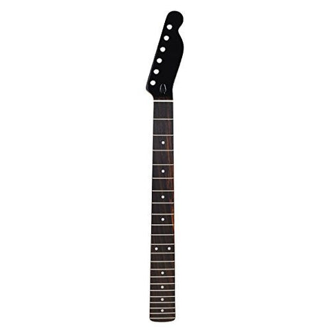 Kmise Electric Guitar Neck For Fender Tele Replacement Black Gloss Headstock 22 Fret Maple Rosewood