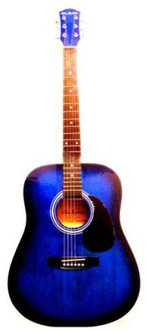 41 Inch Blue Sunburst Acoustic Guitar